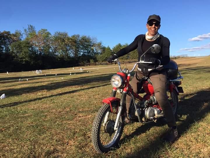 Jill Sessa Rides a Vespa